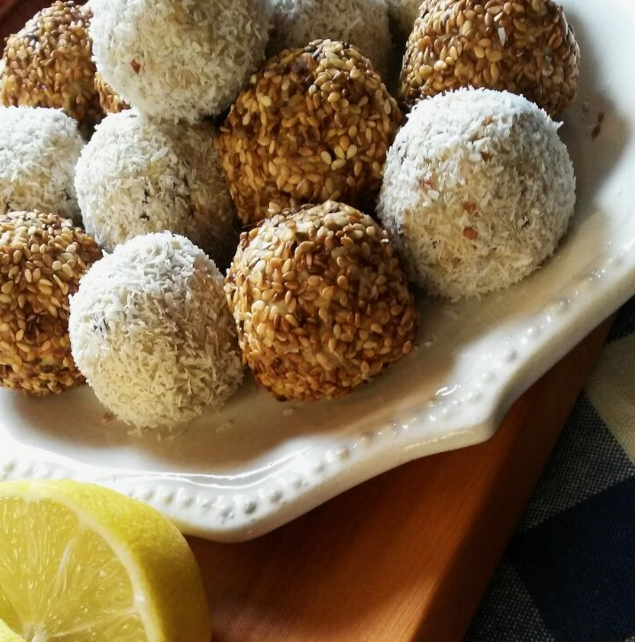 Lemon, Coconut & Sesame Baobab Bliss Balls