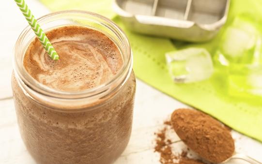 Chilled Creamy Bao-choco drink