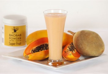 Baobab and Pawpaw Smoothie