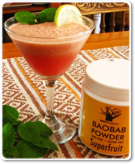Super citrusy summer drink: Lemon, lime, mint, baobab & watermelon