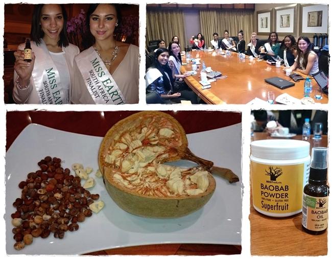 Miss Earth SA 2014 finalists meet the Baobab