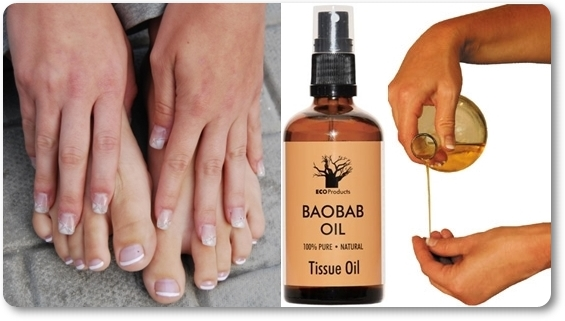 Healthy Nails with Baobab Oil