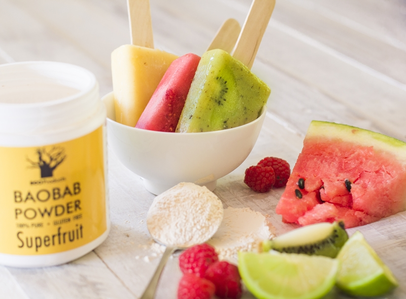 Fruity Baobab Ice Lollies