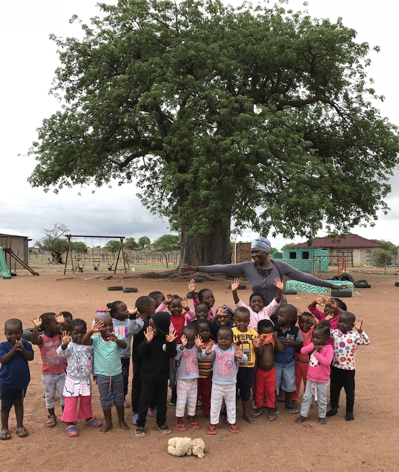 Preschool graduation and baobab tree