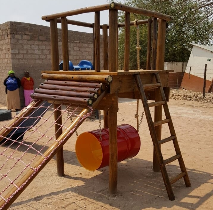 2016 Oct: new jungle gym and toilets for pre-schools creches!